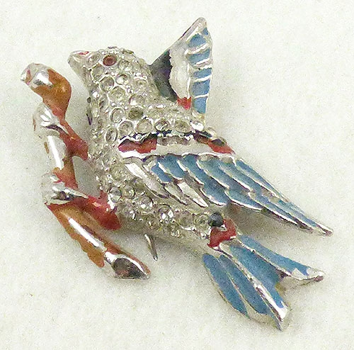 Figural Jewelry - Birds & Fish - Coro Bird Fur Clip