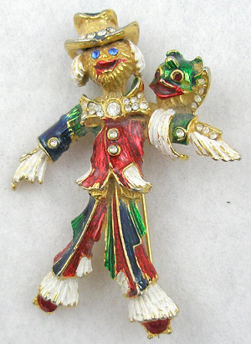 Figural Jewelry - People & Hands - Bijoux Cascio Scarecrow Brooch
