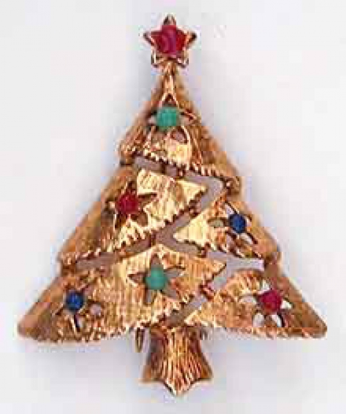 Newly Added Eisenberg Ice Christams Tree Brooch
