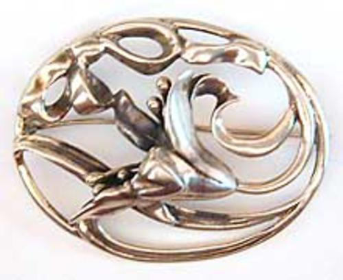 Newly Added Mid-Centurty Sterling Tulip Brooch