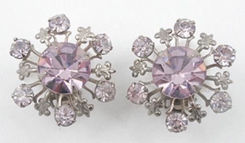 Earrings - Lavender Rhinestone Earrings