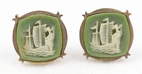 Men's Jewelry - Green Wedgwood Jasperware Cufflinks