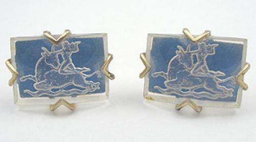 Zodiac - Aries Glass Cuff Links