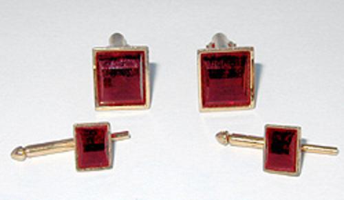 Men's Jewelry - Ruby Glass Men's Dress Set