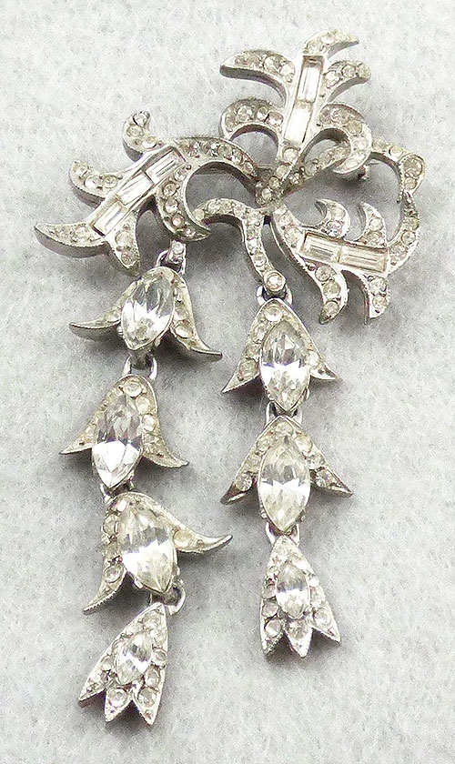 Newly Added Rhinestone Cascading Vine Brooch