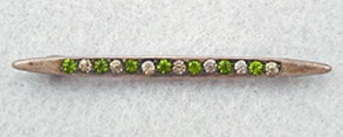 Newly Added Sterling Simulated Diamond & Emerald Bar Pin