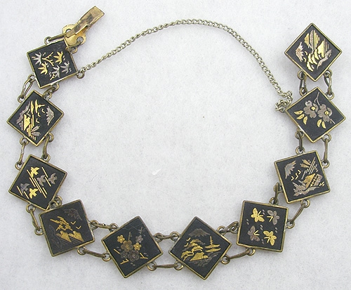 Japan - Japanese Damascene Bracelet