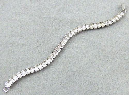 Bracelets - Rhinestone Baguette Tennis Bracelet