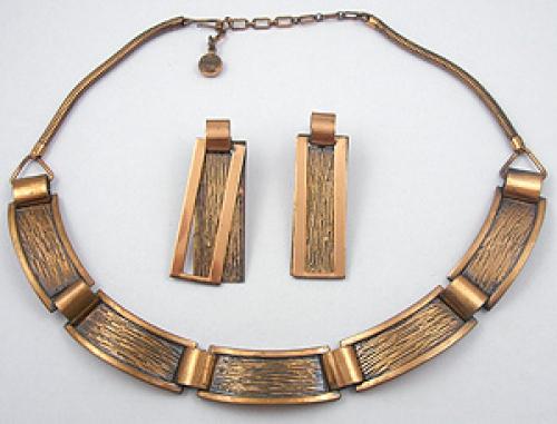 Rebajes - Rebajes Modernist Copper Necklace Set