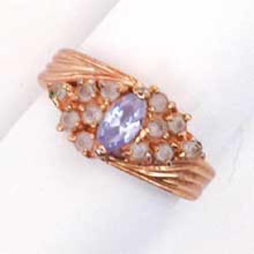 $25 or Less - Lavender Glass Ring