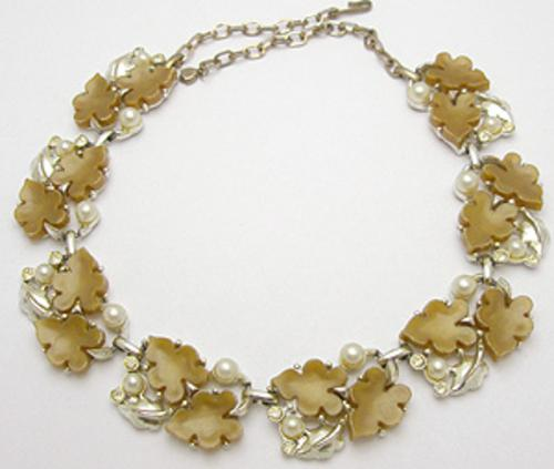 Leaves & Plants - Brown Plastic Leaves Necklace