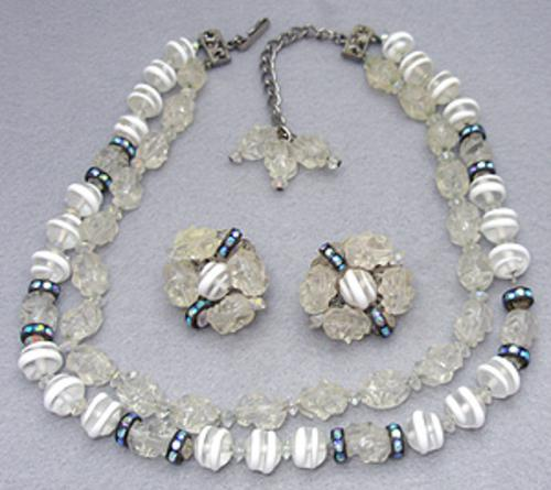 Sets & Parures - Hobe' Art Glass Necklace Set