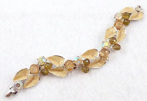 Bracelets - Yellow Enamel Leaves Bracelet