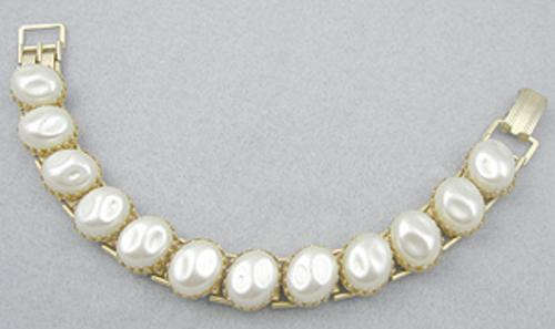 Newly Added Simulated Pearl Link Bracelet