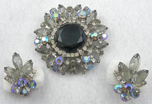 DeLizza & Elster/Juliana - DeLizza & Elster Black Diamond Brooch Set