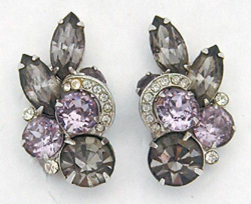 Eisenberg - Eisenberg Black Diamond Rhinestone Earrings
