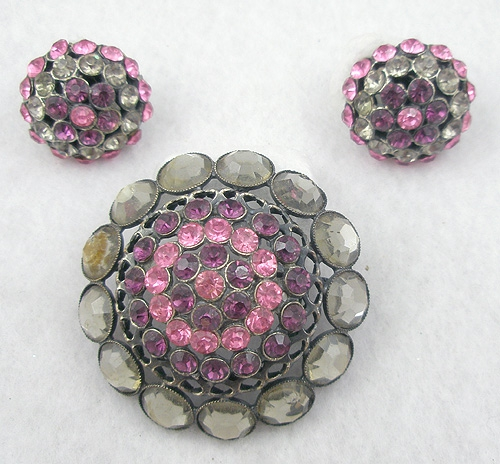 Sets & Parures - Alice Caviness Domed Brooch Set