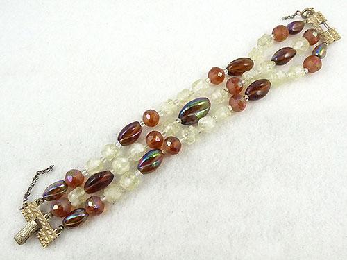 France - Schiaparelli Triple Strand Bead Bracelet