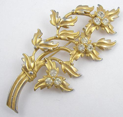 Newly Added Gold Plated Floral Brooch