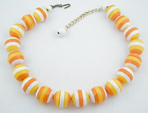 Summer Hot Colors Jewelry - Sliced Plastic Beads Necklace