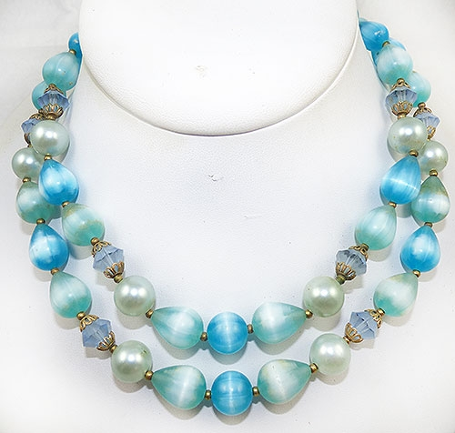 Lisner - Lisner Aqua Bead Necklace