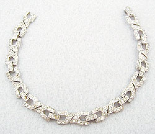 Newly Added Trifari Art Deco Rhinestone Bracelet