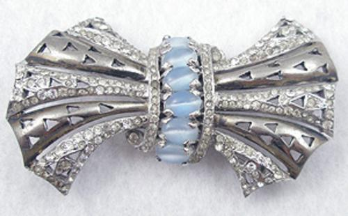 Newly Added Reja Sterling Bow Brooch