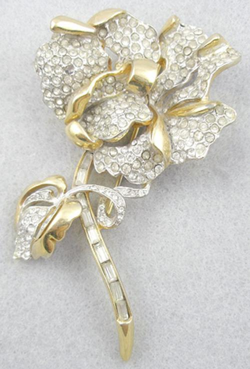 Newly Added Reja Rhinestone Flower Brooch