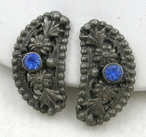 Earrings - Pot Metal Flowers Earrings