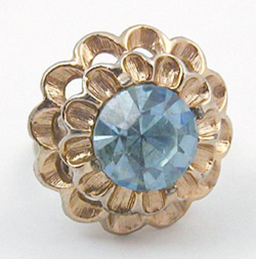 End of Year Sale! 30-50% OFF - Light Blue Rhinestone Ruffles Ring