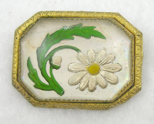 Brooches - Reverse Painted Glass Intaglio Brooch