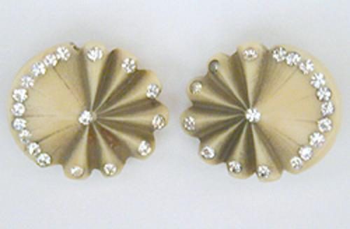 Newly Added Fan Motif Celluloid Earrings