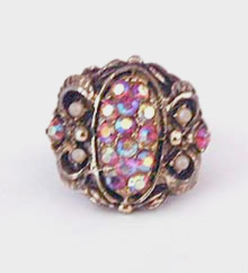 Rings - Pink Aurora Rhinestone Ring