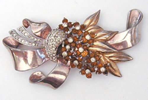 Newly Added Pennino Topaz Flowers Brooch