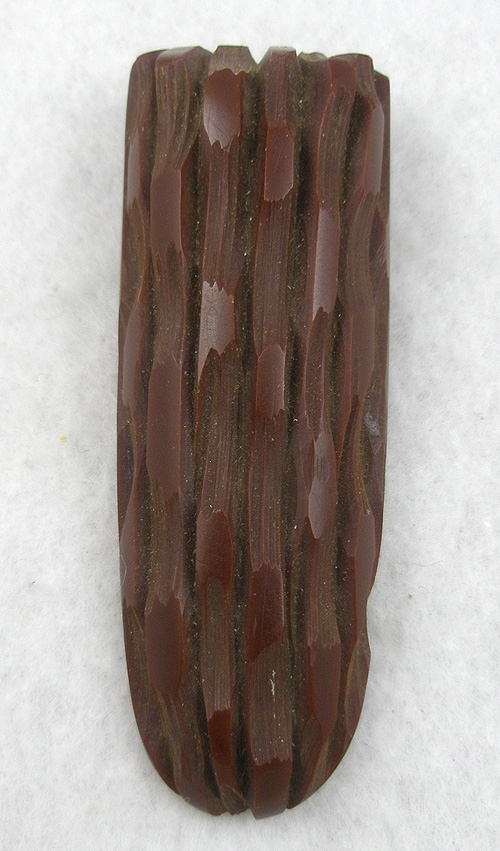 Newly Added Chocolate Brown Bakelite Dress Clip