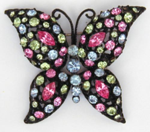 Newly Added Japanned Butterfly Brooch
