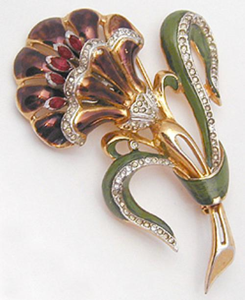Brooches - Coro Floral Trembler Brooch