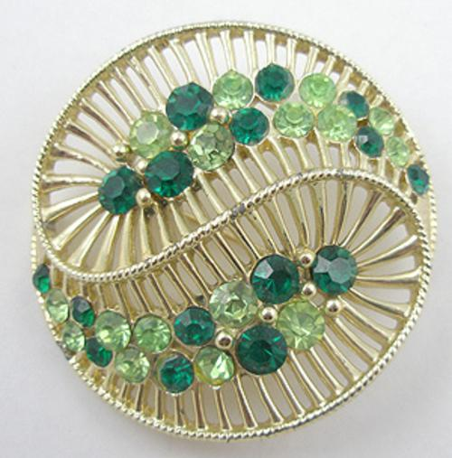 Newly Added Coro Rhinestone Yin Yang Brooch