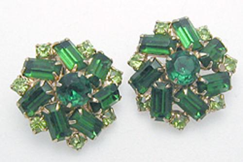 End of Year Sale! 30-50% OFF - Green Rhinestone Earrings