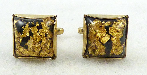 Men's Jewelry - Hickok Lucite Confetti Cuff Links