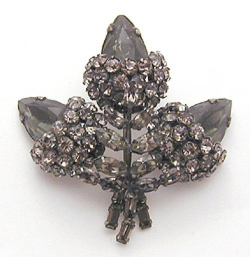 Newly Added Schreiner Black Diamond Brooch