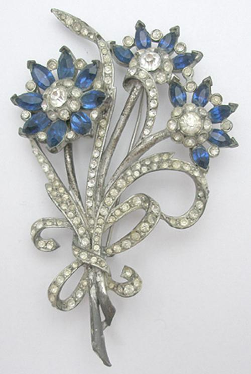 Newly Added 1930's Pot Metal Floral Brooch