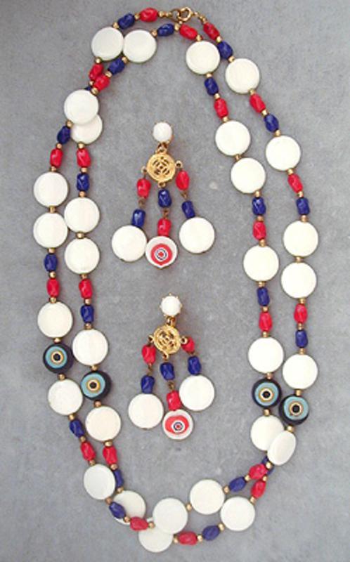 Sets & Parures - Patriotic Bead Necklace Set