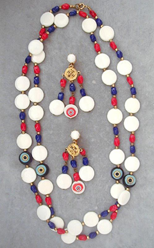 Patriotic Jewelry - Patriotic Bead Necklace Set