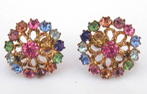 Newly Added Czech Multi-Color Rhinestone Earrings
