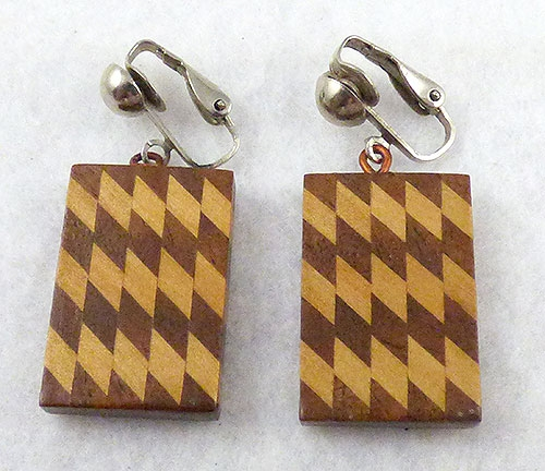 Ethnic & Boho - Boho Two Tone Wooden Earrings