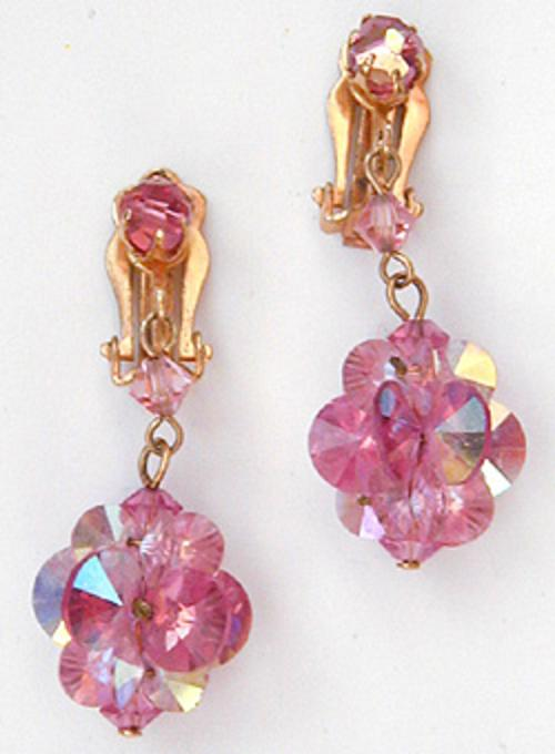 Newly Added Pink Aurora Crystal Earrings