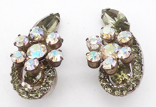 Earrings - Juliana Black Diamond Rhinestone Earrings