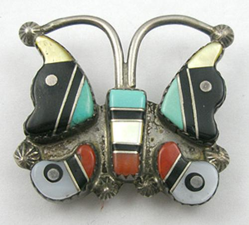 Brooches - Zuni Butterfly Brooch
