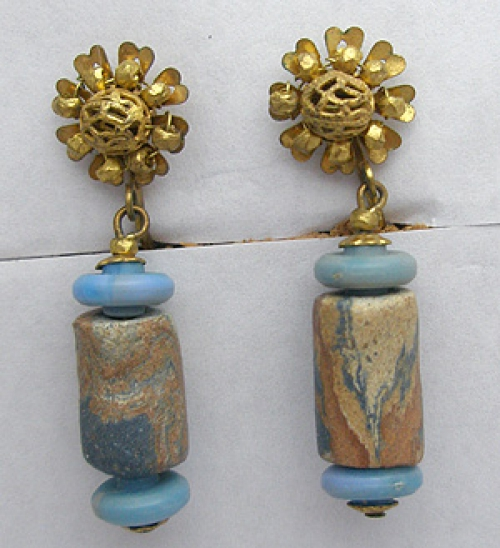 Newly Added Miriam Haskell Trade Bead Earrings